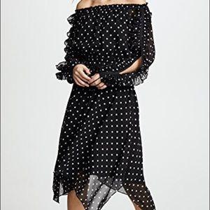 NWT Club Monaco Griga Dress Black/white polka dot